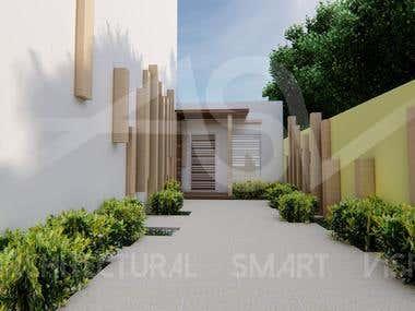 conception d'une porche d'entrée pour un centre d'énergie