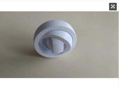 Customizable Rotating Rings 3D Model
