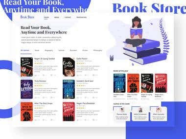 Landing Page Book Store