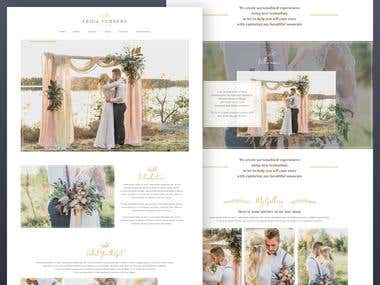 Wedding Photography Web Concept