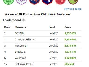 Top Member in Freelancer