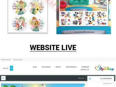 Website graphic's , Banners , footer , header, products etc