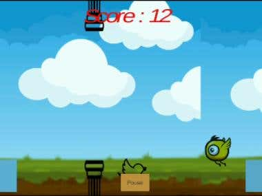 Addictive 2D Bird Can Fly Game