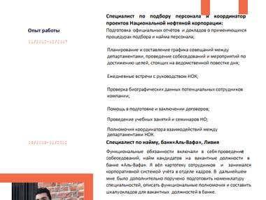 Translate a CV