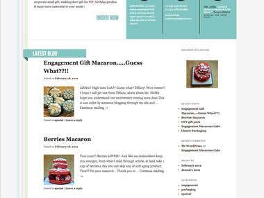 macaroon website - Wordpress