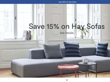 Shopify furniture website