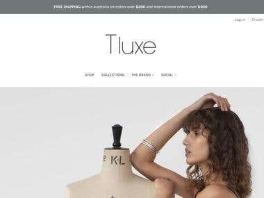 Shopify ecommerce website