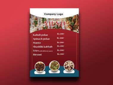 Restaurants Menu Design...