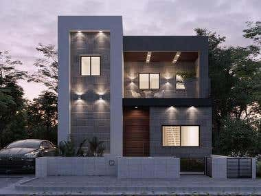 Villa Design and 3D Visualization