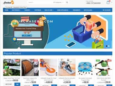 Development of E-commerce Platform using Wordpress