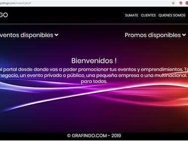 Web para promociones y eventos