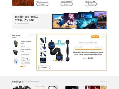 Wordpress Gaming Accessories Shop