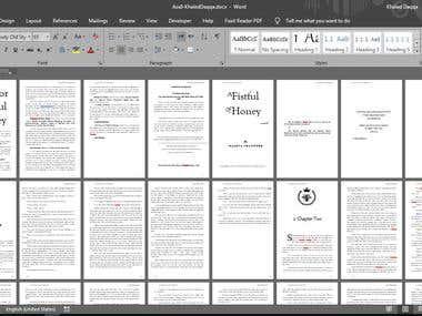 Formatting a novel