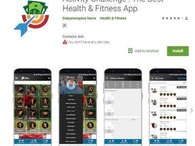 Activity Challenge : The Best Health & Fitness Application