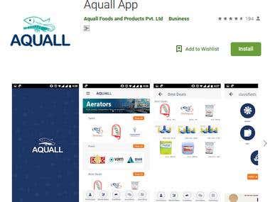 Aquall: Aqua Goods & Services Application Development