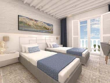 Hotel Room Interior Design_Greece