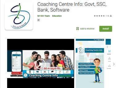 Cover art Coaching Center Info: Application Development