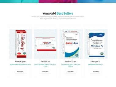 Website Design for Pharma Company- AmWorld