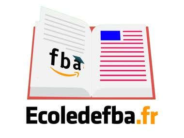Logo design for ecoledefba.fr website