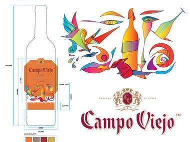 Campo Viejo Art Series Label Project