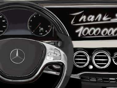 Mercedes Benz Digital Painting