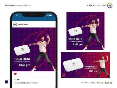 Vodacom - Facebook & Instagram Content Creation