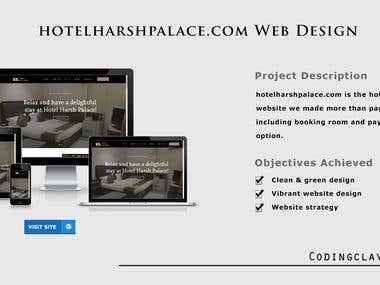 Hotel Booking site (www.hotelharshpalace.com)