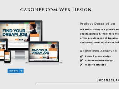 Job Portal for single website (https://garonee.com)