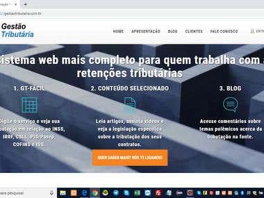 Web system for www.gestaotributaria.com.br