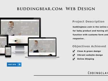 E-Commerce website (http://buddingbear.com/) 3 language use