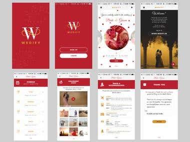 WEDIFY App Screen UI Design