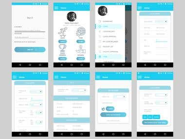 SBI HRMS Mobile App Screens
