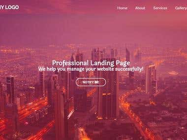 Landing Page Design with HTML and CSS