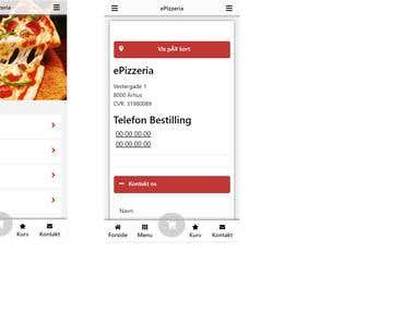 Pizza web app