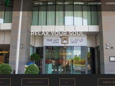 The Act Hotel Website