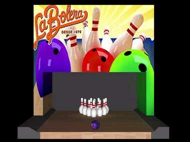 Bowling 3D max animation
