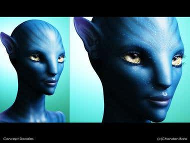 Avatar-neytiri fanart
