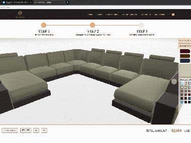 3D sofa configurator for Ecommerce
