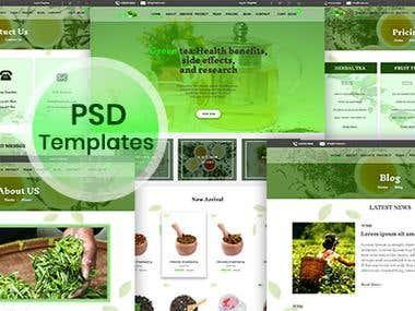 Tea PSD web template