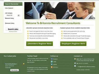 Joomla CMS Recruitment Website Developmnent