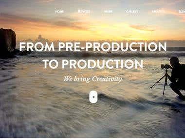 Cinematic Motion Website