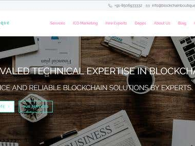 BlockChain Boutique Website