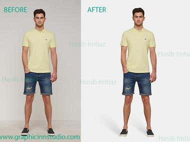 MALE MODEL WEARING PRODUCT, PHOTO RE-TOUCH