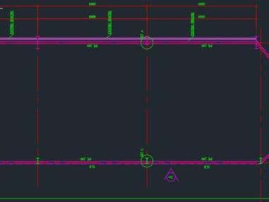 Steel structural drawings (AutoCAD)