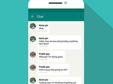 Chat app example