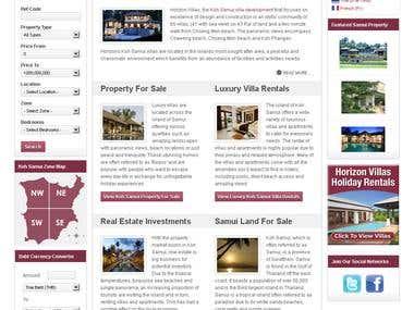 Joomla CMS Web Development For Property Company