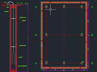 Geotechnical design drawings (AutoCAD)