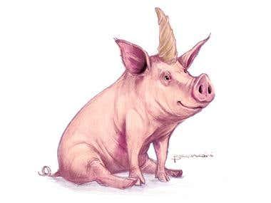 Pig - horne