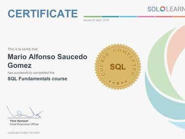 Crtificate Fundamentals SQL