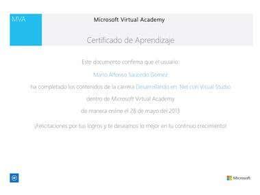 Certificate .Developer .NET